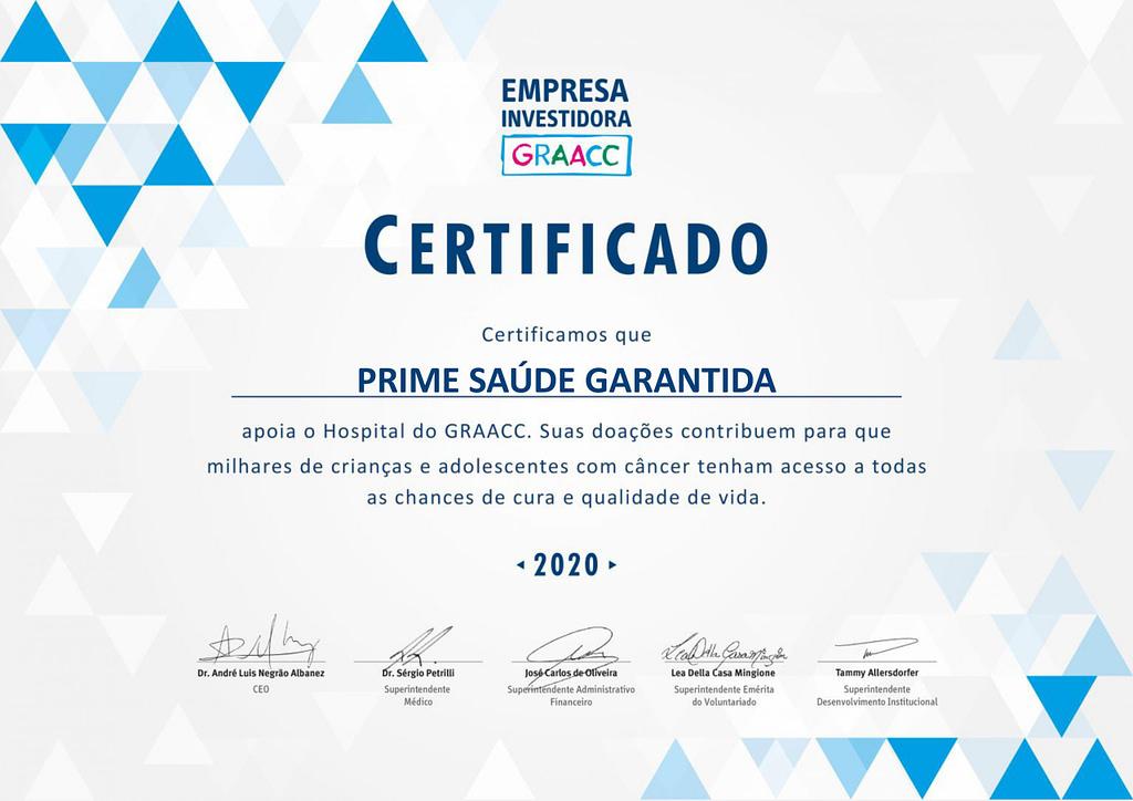 Certificado Empresa Investidora 2020 PRIME scaled